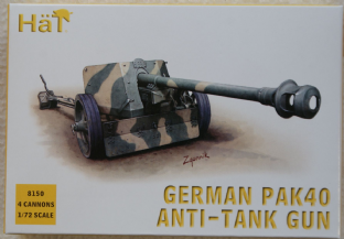 HaT 1/72 HAT8150 German 75mm PaK 40 Anti Tank Gun (WW2)